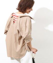 ROPE' mademoiselle/レースアップオーバーシャツ/500990672