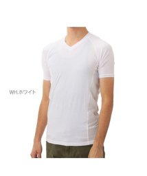 BACKYARD/BT冷感 パワーストレッチ半袖Vネックシャツ JW622/501039115