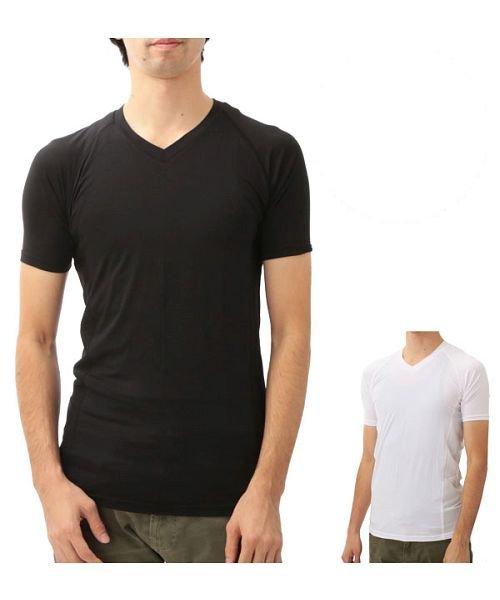 BT冷感 パワーストレッチ半袖Vネックシャツ JW622