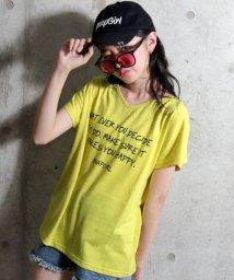 ANAP GiRL/両V手書きプリントドルマンTシャツ/501054296