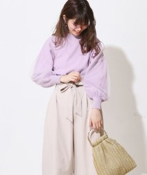 NICE CLAUP OUTLET/【natural couture】ふわふわチュール袖ニット/501052127