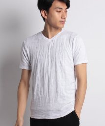 Men's Bigi/リーフジャガード 半袖VネックTシャツ/501053504