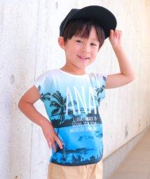 ANAP KIDS/ヤシの木グラデーションTシャツ/501057848