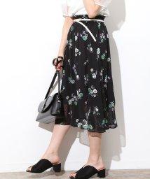 ViS/シフォンドビー花柄スカート/501061421