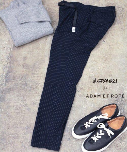 ADAM ET ROPE'(アダム エ ロペ)/【GRAMICCI】別注 TRO STRIPE CRAZY 1TUCK PANTS/GKS68050
