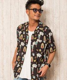 CavariA/CavariA【キャバリア】レーヨンオープンカラー半袖シャツ/501063258