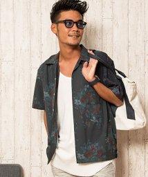 CavariA/CavariA【キャバリア】デザインプリントオープンカラー半袖シャツ/501063259