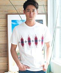 CavariA/CavariA【キャバリア】ネイティブ柄ブロック刺繍クルーネック半袖Tシャツ/501063260