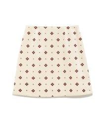 Lily Brown/小紋刺繍台形スカート/501063668
