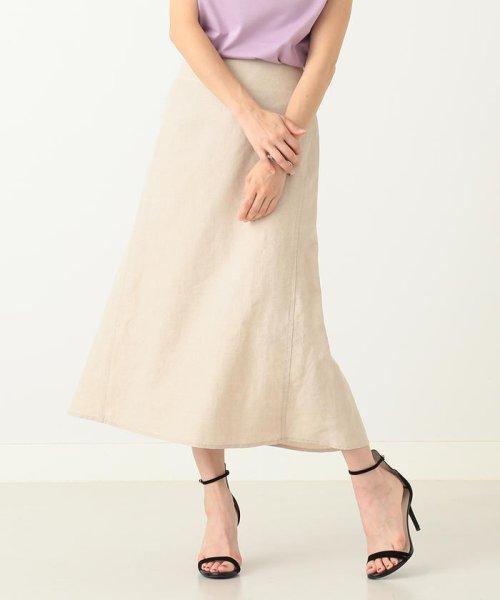 Demi-Luxe BEAMS(デミルクスビームス)/【洗える】Demi-Luxe BEAMS / リネン フィット&フレアスカート/68270386002