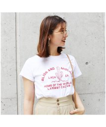 MODE ROBE/サボテンプリントTシャツ/501066532