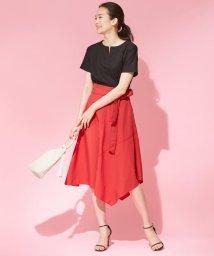 ICB(LARGE SIZE)/【イレギュラーヘムが美しい】Taslan Taffeta スカート/501066814