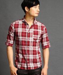 NICOLE CLUB FOR MEN/ショートワイドカラー5分袖シャツ/501021295