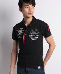 STYLEBLOCK/カノコミリタリープリント&MA-1調ポケット付き半袖ポロシャツ/501042918
