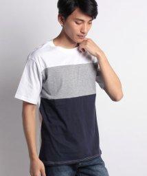 STYLEBLOCK/綿100%カラー切替ブロッキングTシャツ/501042921