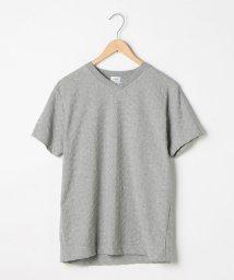 coen/リンクスジャガードVネックTシャツ/501057396