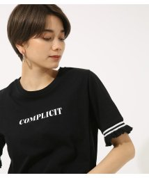 AZUL by moussy/COMPLICIT 袖フリルTEE/501060385