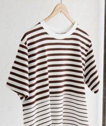 coen/グラデーションボーダークルーネックTシャツ/501061416