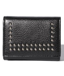 J&M DAVIDSON/【J&M DAVIDSON】三つ折り ミニ財布 / SMALL FOLDED WALLET W/STUDS 【BLACK】/501058584