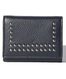 J&M DAVIDSON/【J&M DAVIDSON】三つ折り ミニ財布 / SMALL FOLDED WALLET W/STUDS 【NEW NAVY】/501058585