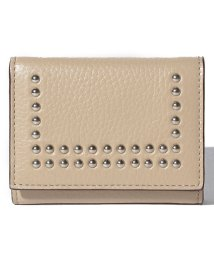 J&M DAVIDSON/【J&M DAVIDSON】三つ折り ミニ財布 / SMALL FOLDED WALLET W/STUDS 【SAHARA BEIGE】/501058586