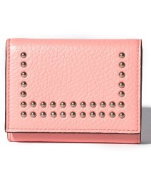 J&M DAVIDSON/【J&M DAVIDSON】三つ折り ミニ財布 / SMALL FOLDED WALLET W/STUDS 【CAMELIA PINK】/501058587