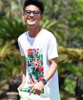 CavariA/CavariA【キャバリア】別布フラワーボックスプリントクルーネック半袖Tシャツ/501072197
