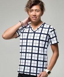 CavariA/CavariA【キャバリア】ウィンドペンVネック半袖Tシャツ/501072208