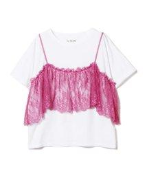 Ray BEAMS/Ray BEAMS / レース キャミ付 Tシャツ/501072506