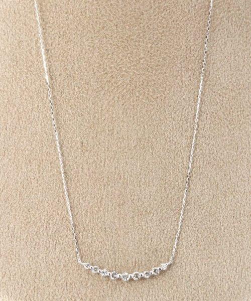 DECOUVERTE(デクーヴェルト)/18KWG 0.3ct ダイヤモンド ネックレス/18110895014010