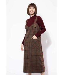 ROSE BUD/チェック柄ジャンパースカート/501073546