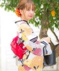 Dita/Dita【ディータ】1人で簡単に着られる作り帯の可愛い女性浴衣 4点フルセット(ゆかた・作り帯・下駄・着付けカタログ)/501075957