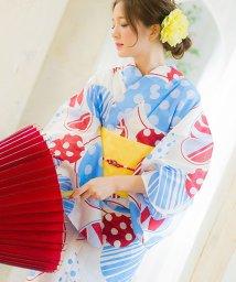 Dita/Dita【ディータ】1人で簡単に着られる作り帯の可愛い女性浴衣 4点フルセット(ゆかた・作り帯・下駄・着付けカタログ)/501075960