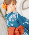 Dita/Dita【ディータ】1人で簡単に着られる作り帯の可愛い女性浴衣 4点フルセット(ゆかた・作り帯・下駄・着付けカタログ)/501075961