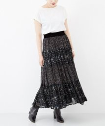 URBAN RESEARCH/ne Quittez pas GEORGETTE FLOWER PANEL LONG SKIRT/501076044