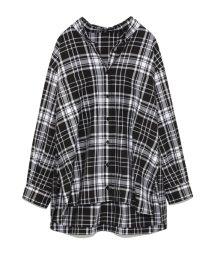snidel/ウールチェックシャツ/501076885