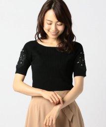 MISCH MASCH/袖刺繍5分袖ニット/501030189