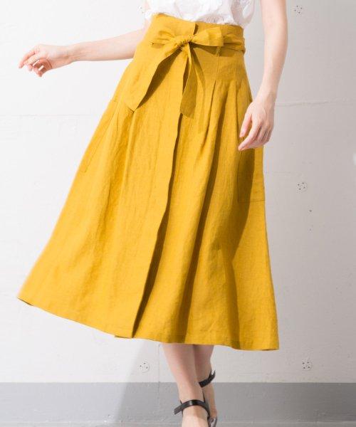 en recre(アン レクレ)/Special Price【B7】ウエストリボンスカート/6802339