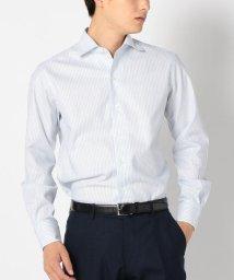 SHIPS MEN/SD: 【MONTI社製生地】カラミ ストライプ ワンピースカラー シャツ(ライトブルー)/501077005