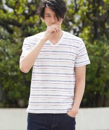 MK homme/デザインボーダーカットソー/501077239