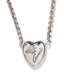 GUCCI/【GUCCI】COLLANA FLORA HEART ARGENTO/501078995