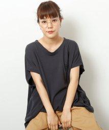 DOUBLE NAME/ワンポイント刺繍変形TEE/501079021