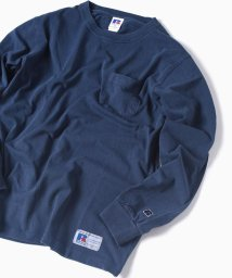 SHIPS MEN/RUSSELL ATHLETIC×SHIPS: 別注 ユーズド加工 ロングTシャツ 18FW/501079625