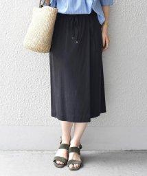 SHIPS WOMEN/【手洗い可能】ドローストリングラップスカート/501079634