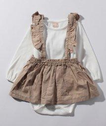 petit main/ギャザースカート×リブロンパースセット/501070505