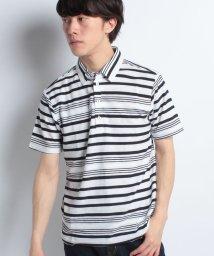 STYLEBLOCK/ジャカードボーダー裏使い半袖ポロシャツ/501066146