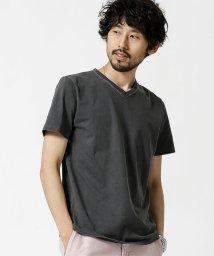 nano・universe/ピグメントバイオ加工VネックTシャツ/501070255