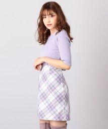 MIIA/バイアスチェック柄スカート/501078626