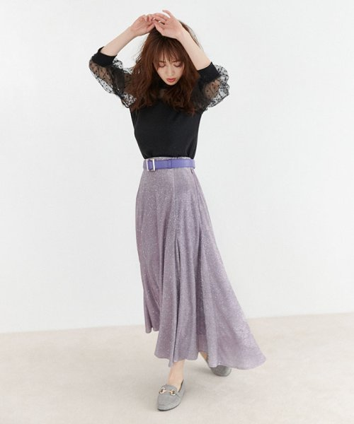 MIIA(ミーア)/キラキラAラインスカート/32830116