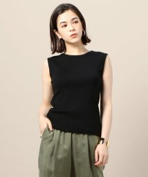 BEAUTY&YOUTH UNITED ARROWS/BY スビンギザコットンリブノースリーブカットソー/501080658